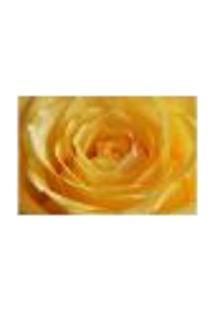 Painel Adesivo De Parede - Rosa Amarela - Flores - 1747Pnp