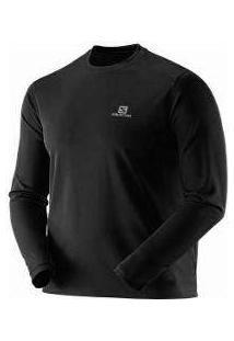 Camiseta Manga Longa - Comet Long Sleeve - Masculino G Preto - Salomon