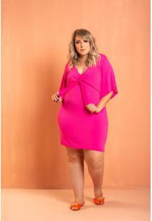 Vestido Iris Laço Pink Plus Size