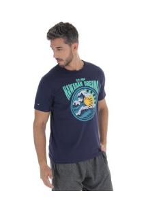 Camiseta Hd Old School 3278A - Masculina - Azul Escuro