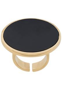 Isabel Marant Circle Stone Ring - Preto