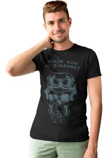 Camiseta Rf - Revolts Forever Skull Glasses Preto