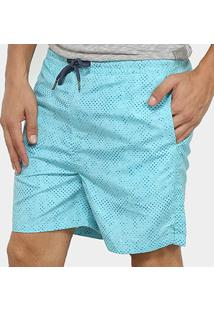Short Nyc Norwich Yacht Club Palm Masculino - Masculino-Azul Piscina