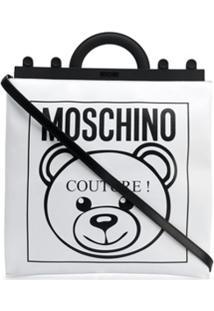 Moschino Bolsa Tote Com Logo 'Teddy Bear' - Branco