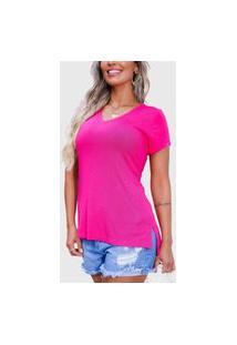 Camiseta Feminina Básica Gola V Comprida The Vest Legging Soft