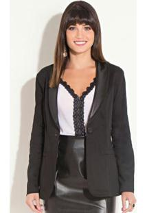 Blazer Alongado Preto Quintess