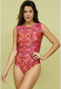 Body Com Botãµes & Tag- Rosa- Mos Beach Wearmos Beach Wear