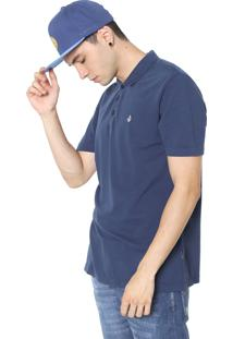 Camisa Polo Volcom Reta Corporate Azul-Marinho