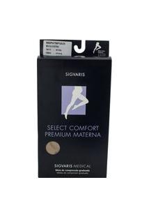 Meia Calça Materna Sigvaris Select Comfort Premium 20-30 Mmhg Ponteira Aberta P (Tamanho Pequeno) Longo (P3), Cor Bege