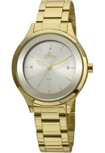 Relógio Allora Segredos Do Oriente - Feminino-Dourado+Branco