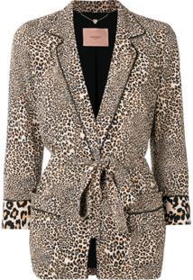 Twin-Set Leopard Print Robe-Jacket - Neutro