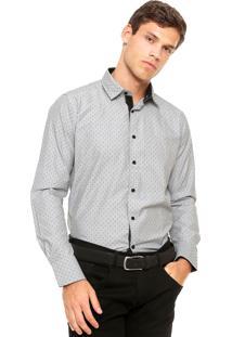 Camisa Aleatory Geométrica Cinza