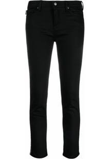 Love Moschino Calça Jeans Com Detalhe De Logo No Lateral - Preto