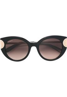 R  2636,00. Farfetch Salvatore Ferragamo Eyewear Óculos De Sol Armação  Gatinho - Marrom 6049ad129c