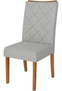 Cadeira Golden 2 Peças - Linho Claro - Carvalho Americano