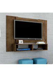 Painel Para Tv Até 48 Polegadas Navi Madeira Rústica 120 Cm