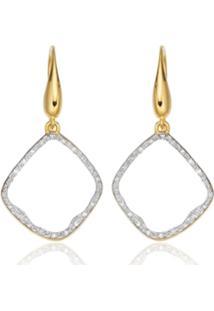 Monica Vinader Gp Riva Diamond Hoop Earrings - Dourado
