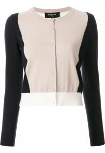 Paule Ka Cardigan Slim Color Block - Neutro