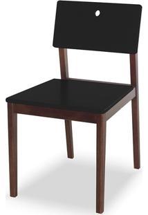 Cadeira Flip Cacau E Preta