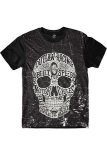 Camiseta Bsc Motoqueiros Caveira Motor Sublimada - Masculino