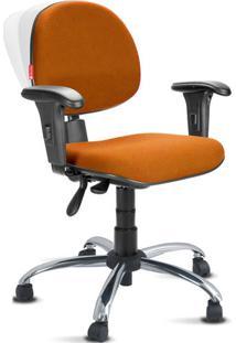 Cadeira Ergonômica Nr17 Crepe Premium Executiva Laranja