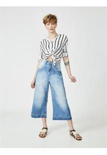 Calça Jeans Amapô Pantacourt Marion Feminina - Feminino