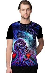 Camiseta Stompy Psicodelica12 Masculina - Masculino-Preto