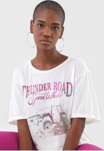 Camiseta Ellus Thunder Road Off-White - Kanui