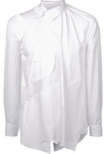 Comme Des Garçons Homme Plus Camisa Assimétrica - Branco