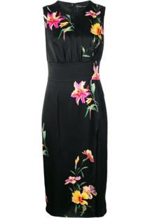 Etro Vestido Com Estampa Floral - Preto