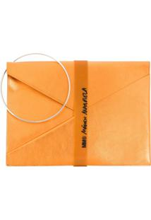 Mm6 Maison Margiela Clutch Binder - Laranja