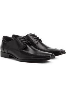 Sapato Social Couro Shoestock Amarração Masculino - Masculino-Preto