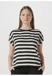 Blusa Feminina Em Tecido De Viscose Preto