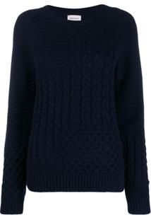Woolrich Cable Knit Jumper - Azul