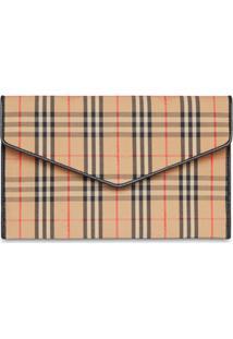 Burberry Porta-Moedas Envelope Xadrez - Neutro