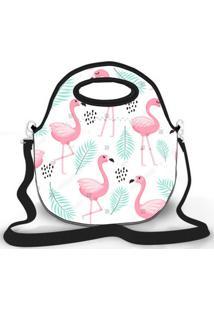 Bolsa Térmica Shop House Flamingos Branco