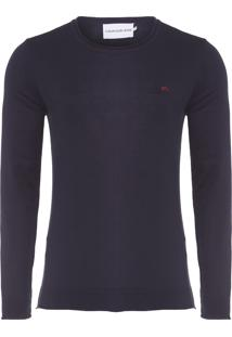 Suéter Masculino Básico A Fio - Azul Marinho
