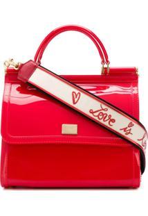 Dolce & Gabbana Bolsa Tiracolo Sicily - Vermelho