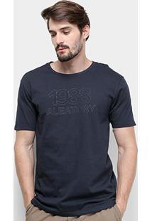 Camiseta Aleatory 1988 Masculina - Masculino-Marinho
