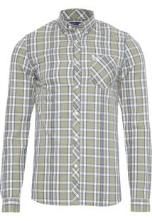 Camisa Masculina Xadrez Bold - Verde