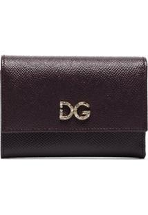 Dolce & Gabbana Carteira Com Placa De Logo E Aplicação De Cristais - Roxo