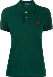 Polo Ralph Lauren Blusa Polo Com Botões Na Gola - Verde