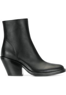 Ann Demeulemeester Ankle Boot Com Zíper - Preto