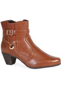 Ankle Boots Feminina Mooncity Elástico