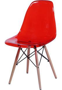 Cadeira Eames Dkr Or-1101 C/ Pés De Madeira – Or Design - Vermelho