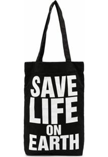 Katharine Hamnett London Bolsa Tote Save Life On Earth - Preto