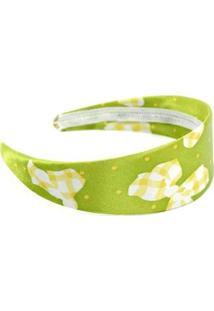 Tiara Desenho De Laço - Feminino-Verde