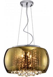 Pendente Plafon Soho Bella Iluminação Dourado