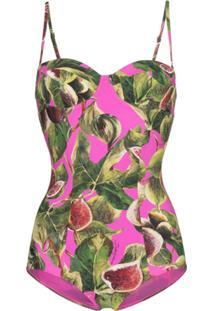 Dolce & Gabbana Maiô Estampado - Rosa