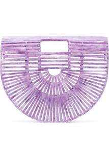 Cult Gaia Clutch Ark - Roxo